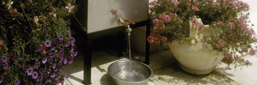 Drinking to a healthy life with stainless raincatchers
