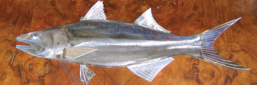 Fishing for compliments: stainless steel fish art