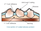 Cross-section of coated abrasive product